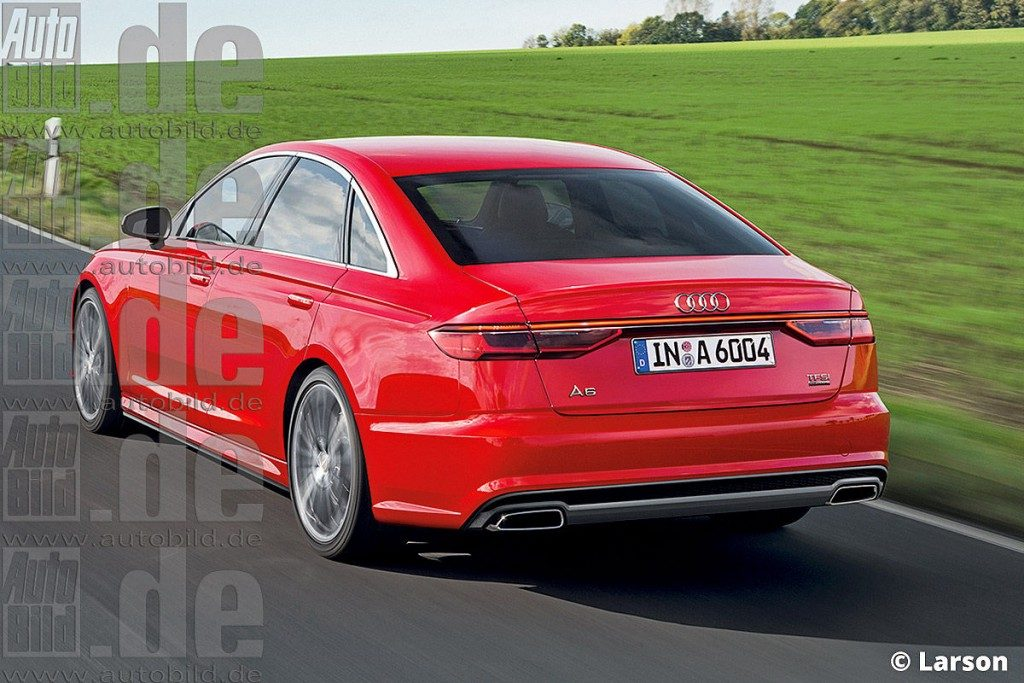 2017 Audi A6 Redesign Pics Rear Carblogindia