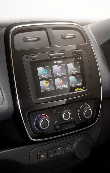 Renault Kwid centre console