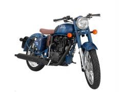 Royal Enfield Classic 500 squadron blue front