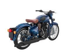 Royal Enfield Classic 500 squadron blue rear