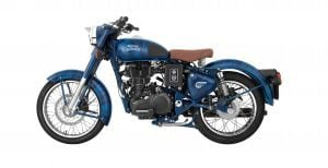 Royal Enfield Classic 500 squadron blue side 2