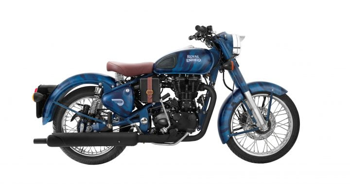 Royal Enfield Classic 500 squadron blue side