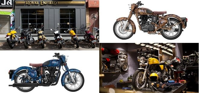 Royal Enfield Store and se bike