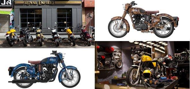 Royal Enfield Store and se bike