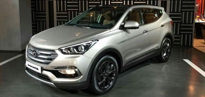 India-bound Hyundai Santa Fe Facelift Revealed