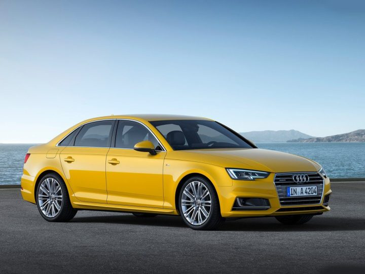 new model 2016 audi a4 india _Yellow_Front-Angle