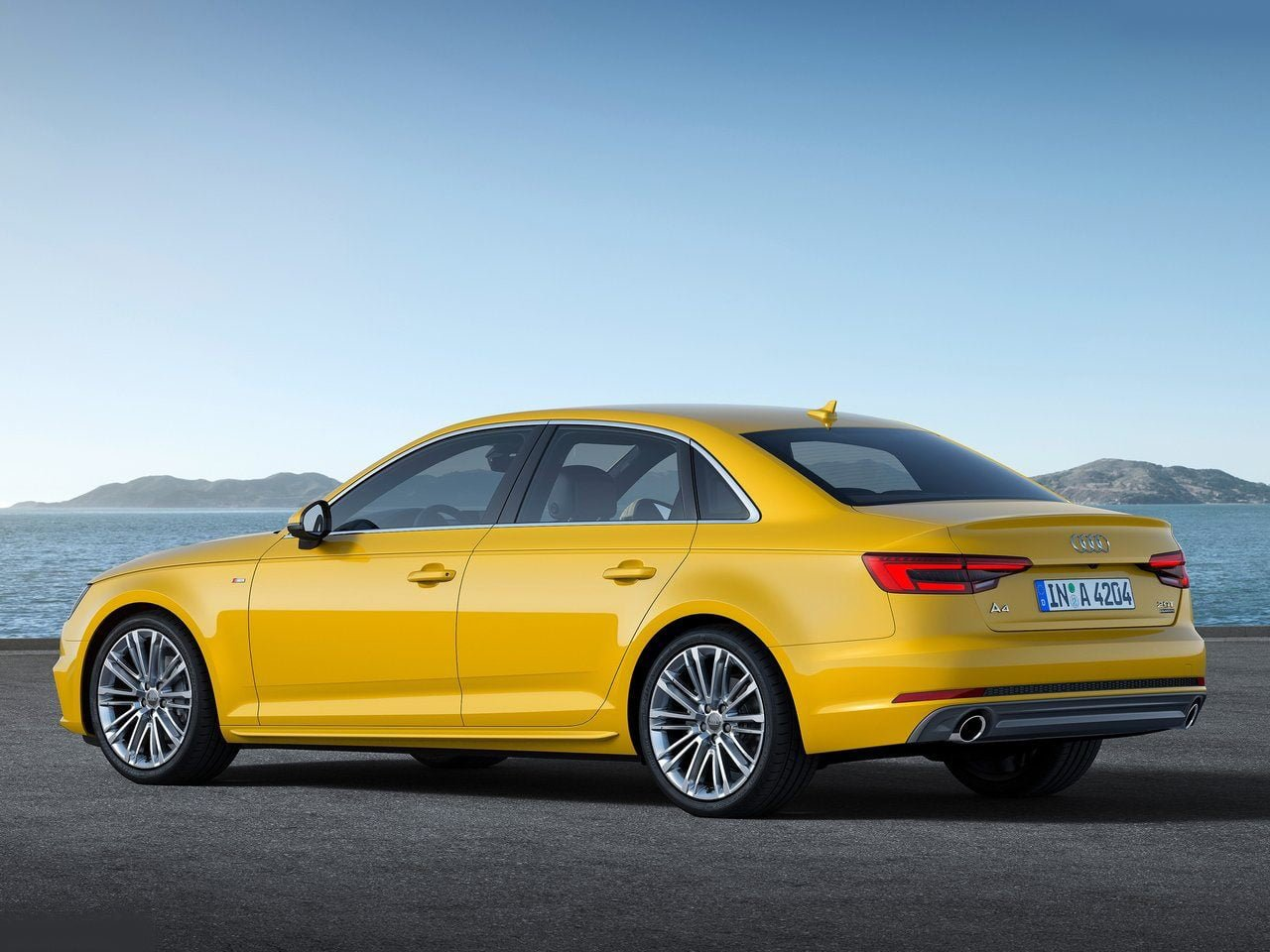 Audi A4 2016 Yellow Rear Angle Pics Carblogindia
