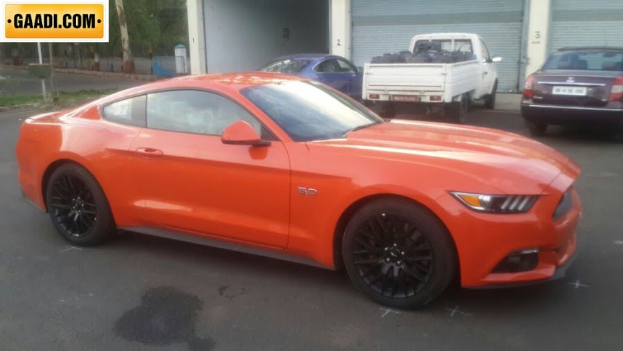 Ford Mustang Gt Side India Spy Pics Carblogindia
