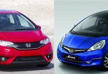 Honda Jazz old vs new