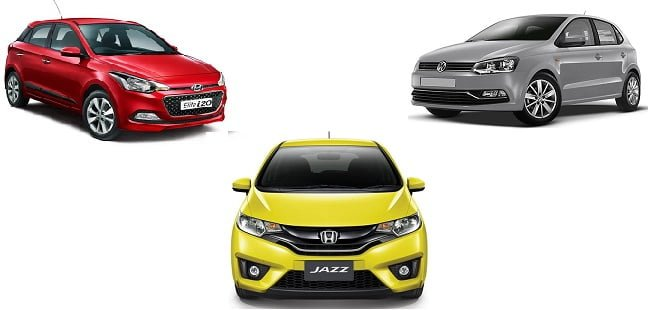 New Honda Jazz vs Hyundai Elite i20 vs Volkswagen Polo