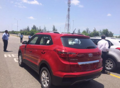 Hyundai Creta Red Rear Angle