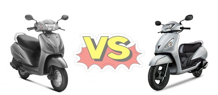 honda activa 3g vs tvs jupiter comparison of price, specifications, features, design