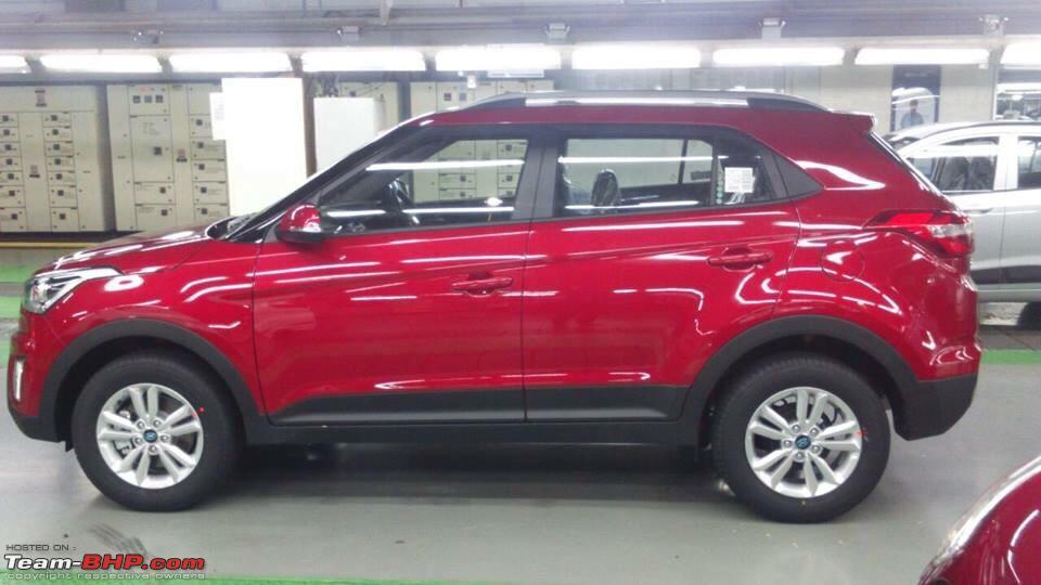 Hyundai Creta India Red Side Carblogindia