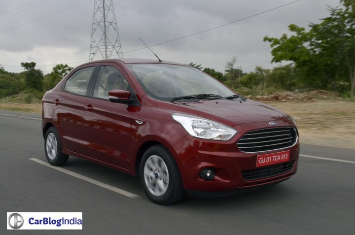 ford aspire price in india, images-front angle action photo