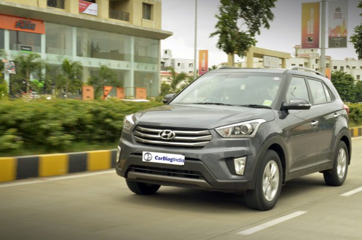 Hyundai Tucson vs Creta Comparison- Price in India, Specifications hyundai-creta-test-drive-review-front-angle-action-pics