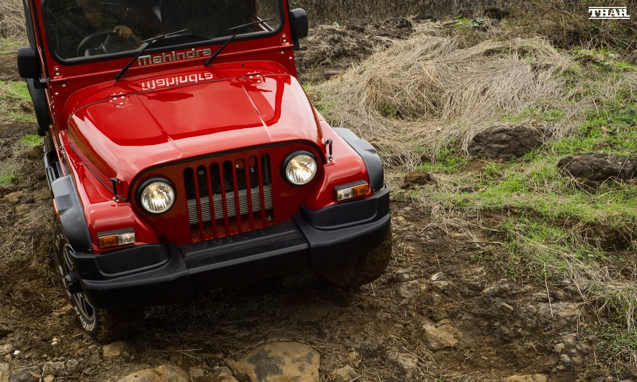 Mahindra Thar Facelift Red 1 Carblogindia