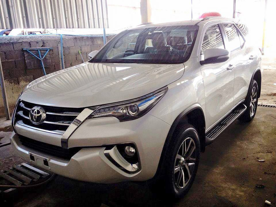 New 2016 Toyota Fortuner Thailand White Front Angle