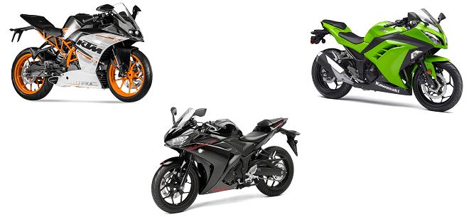 2015-Yamaha-YZF-R3-vs-kawasaki-ninja-300-vsktm-rc390=white