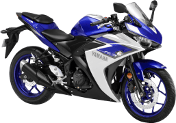 Yamaha YZF R3 Racing Blue 3QTR