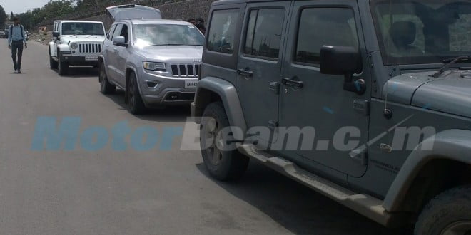 Jeep Cherokee And Jeep Wrangler Spied In India Again