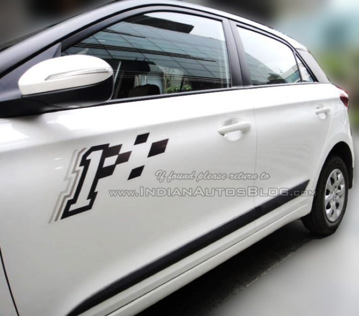 Hyundai elite i20 celebration edition india pics decals