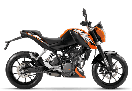 best bikes in India under 1.5 lakhs ktm-duke-200-orange-black