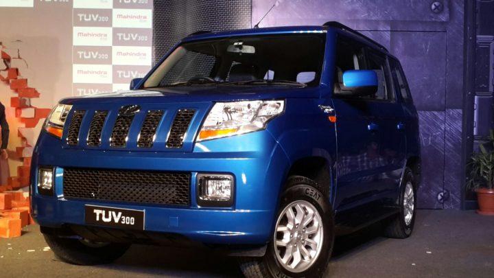 2015-mahindra-tuv300-launch-pics-blue-front-angle
