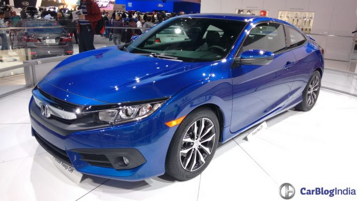 upcoming new car launches india 2017 - new-honda-civic-coupe-la-auto-show-blue-front-angle