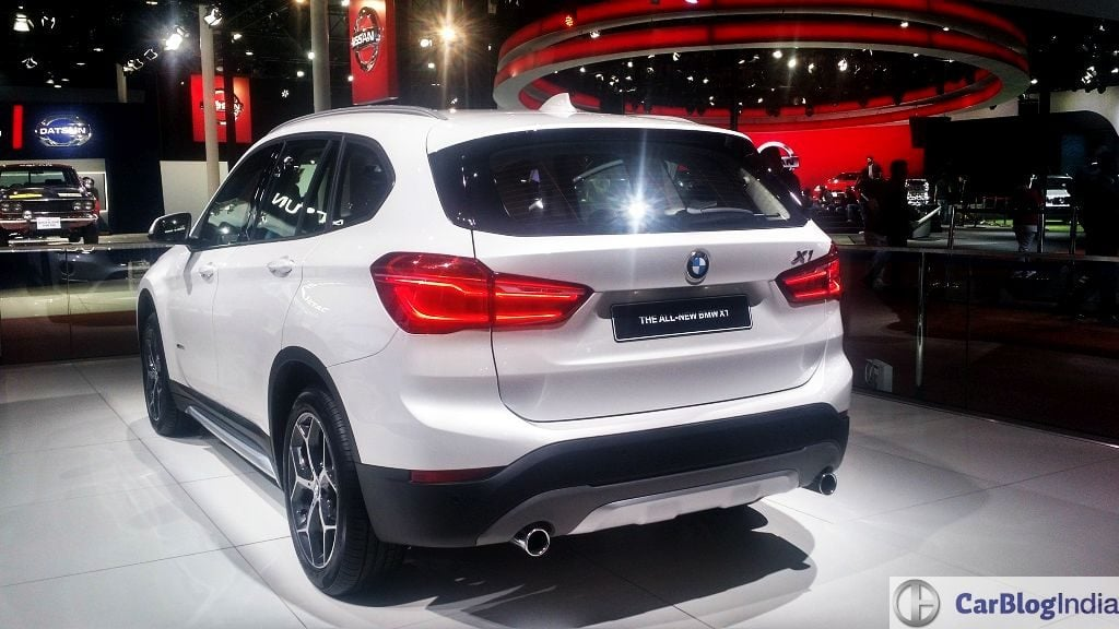 2016 bmw x1 india price auto expo rear