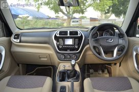 mahindra-tuv300-test-drive-review-black-dashboard