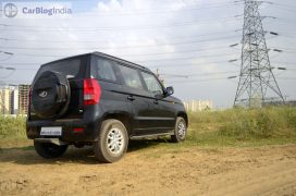 mahindra-tuv300-test-drive-review-black-rear-angle-1