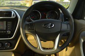 mahindra-tuv300-test-drive-review-black-steering