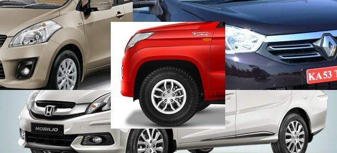 Mahindra TUV300 vs Maruti Ertiga vs Honda Mobilio comparison