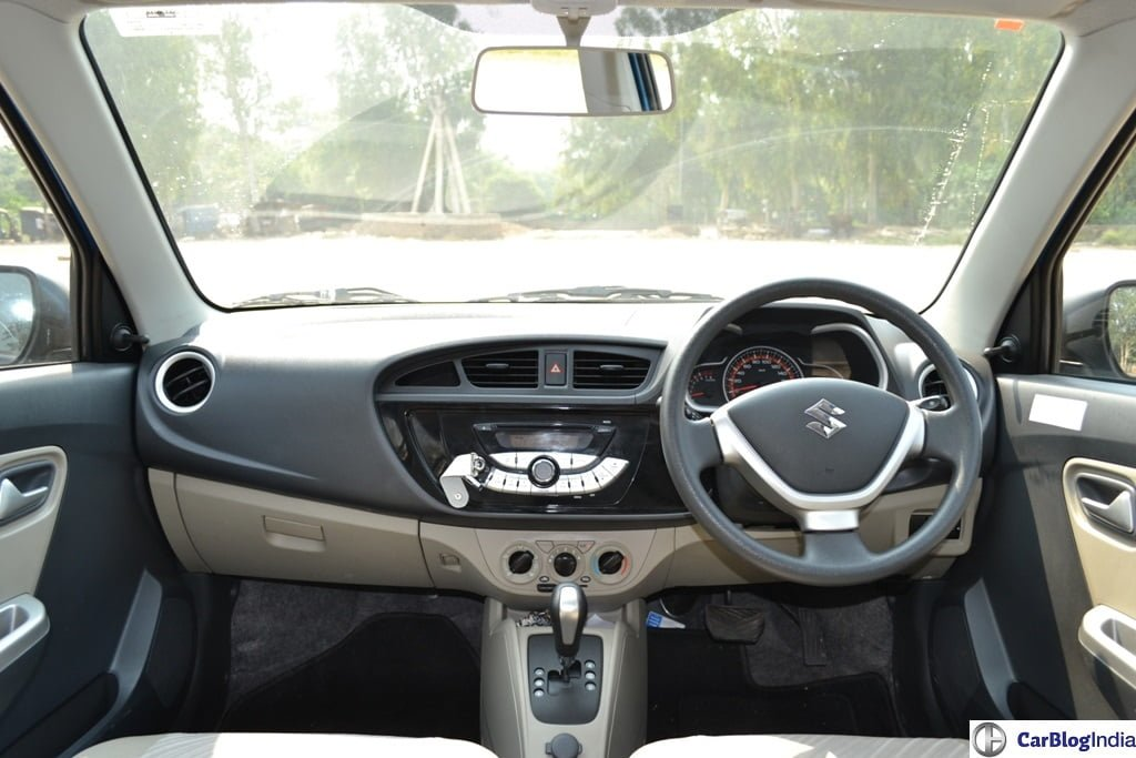 maruti alto k10 amt review pics dashboard carblogindia. Black Bedroom Furniture Sets. Home Design Ideas