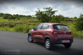 renault-kwid-test-drive-review-red-rxt-model-rear-angle