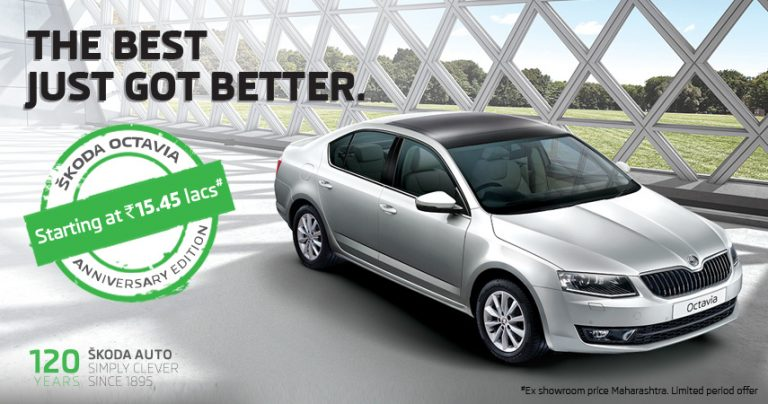 Skoda Introduces Octavia Anniversary Edition at INR 15.75 lakhs