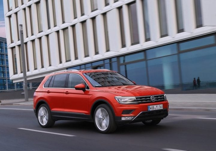 New Upcoming SUV Cars in India 2016 volkswagen-tiguan-india-official-images-front-angle-action