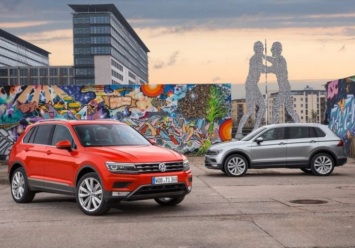 Upcoming New Volkswagen Cars in India volkswagen-tiguan-india-official-images-front-angle-side