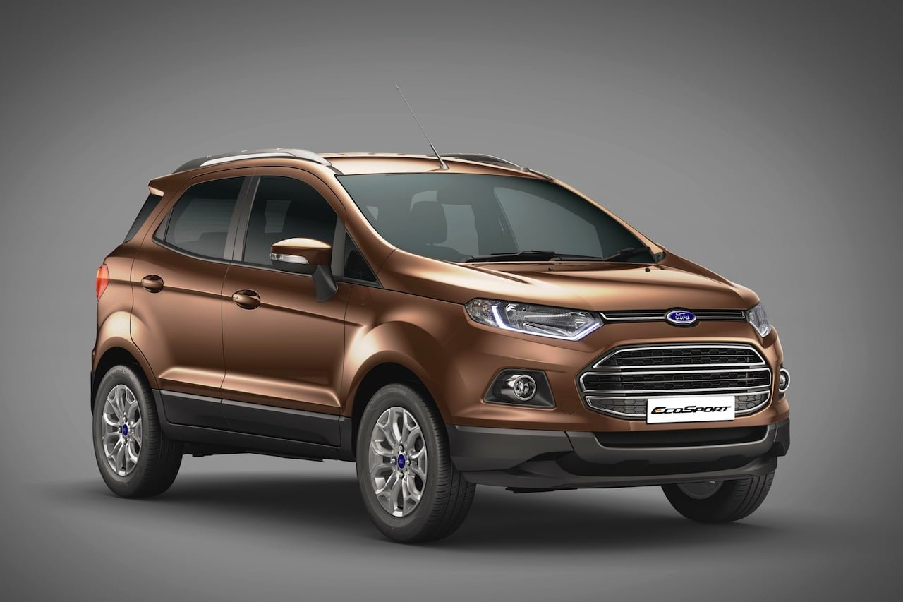 2015 Ford Ecosport Official Pics Front Angle Carblogindia