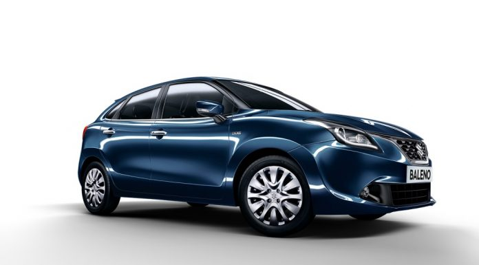 2015-new-maruti-baleno-india-blue-3-4th angle Cutout