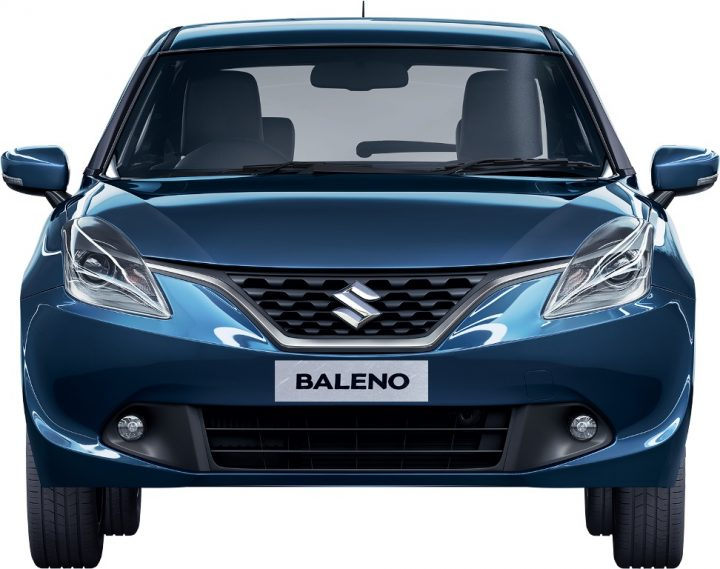 Maruti Baleno vs Dzire Comparison Price, Specs, Features 2015-new-maruti-baleno-india-blue-Front Shot