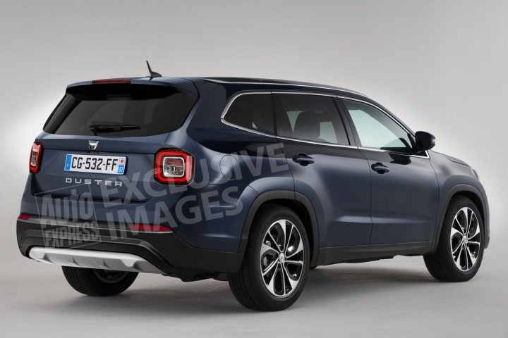 2017 Renault Grand Duster 7 seater rear angle