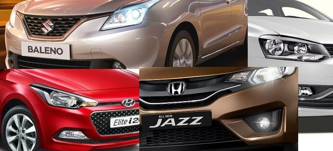 New Maruti Baleno vs Elite i20 vs Jazz vs Polo Comparison