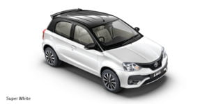 new toyota etios liva dual tone colours super white