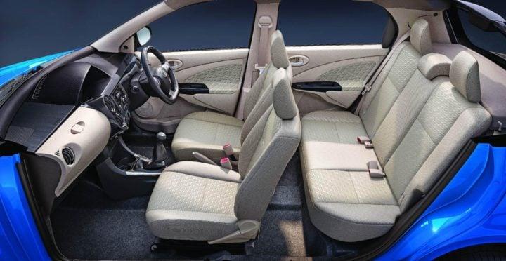 new toyota etios liva dual tone interiors