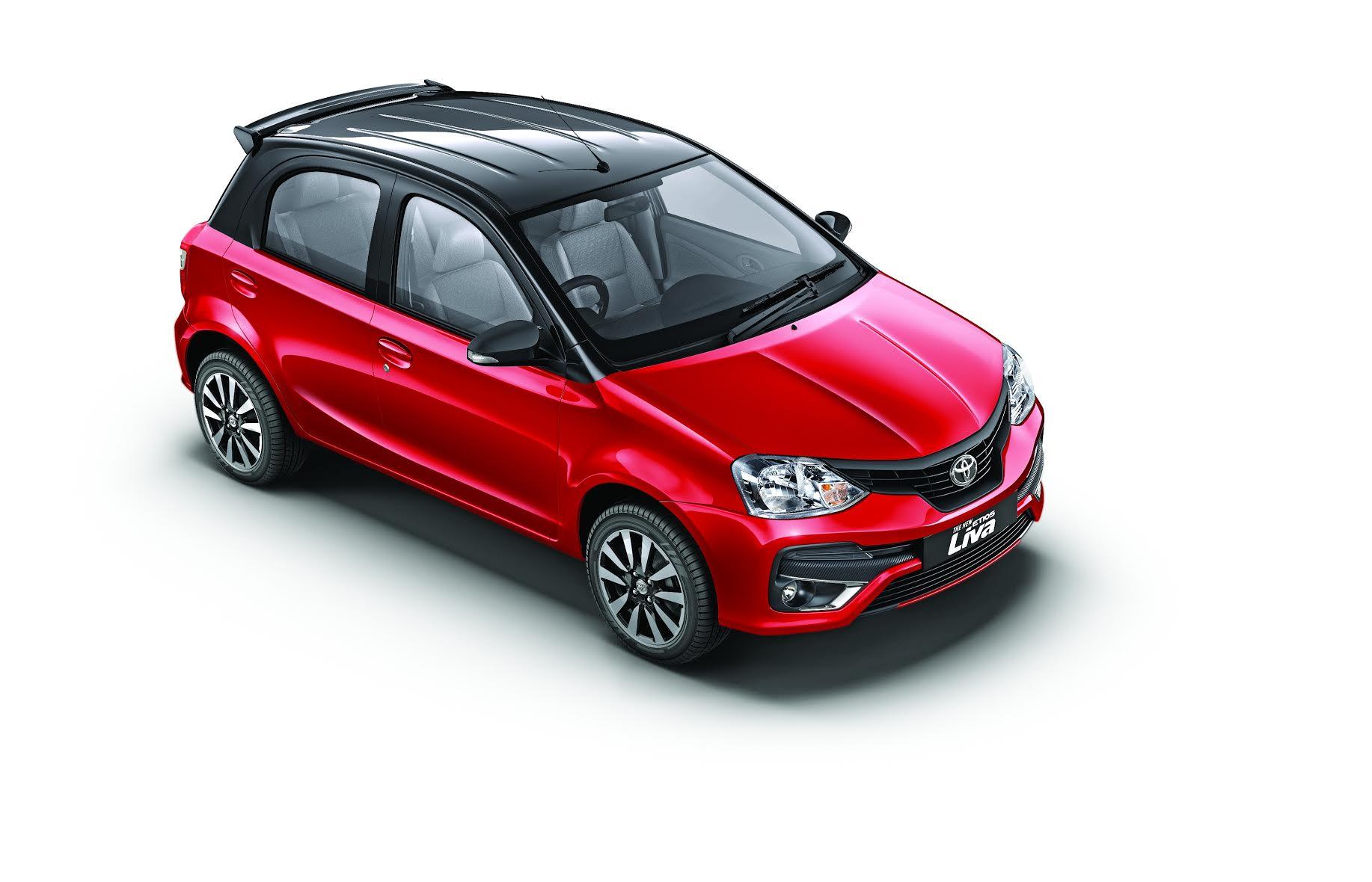 new toyota etios liva dual tone interiors red black