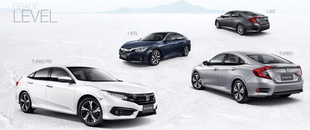2016 honda civic thailand official images 2