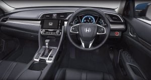 2016 honda civic thailand official images dashboard