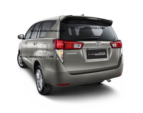 New 2016 Toyota Innova Rear Official Photo Carblogindia