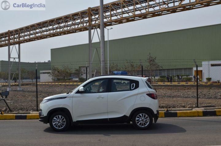 Maruti Ignis vs Mahindra KUV100 Comparison Price, Specs, Features 2016-mahindra-kuv100-action-shot-white-side
